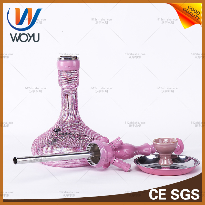 Zinc Alloy Material Hookah Water Pipe Glass Shisha