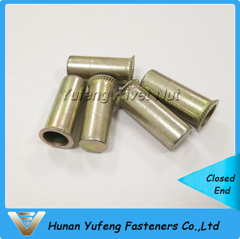 Carbon Steel Countersunk Head Round Body Closed End Rivet Nut