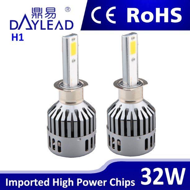 32W H1 Single Beam Car Head LED 6000k LED Headlight