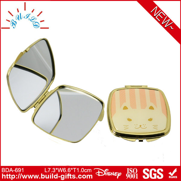 Cosmetic Mirror with Small Metal Component for Gift