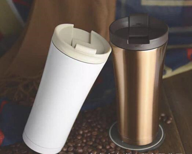 2017 Promotional Premium Foodgrade Plastic Insulated Travel Vacuum Mug