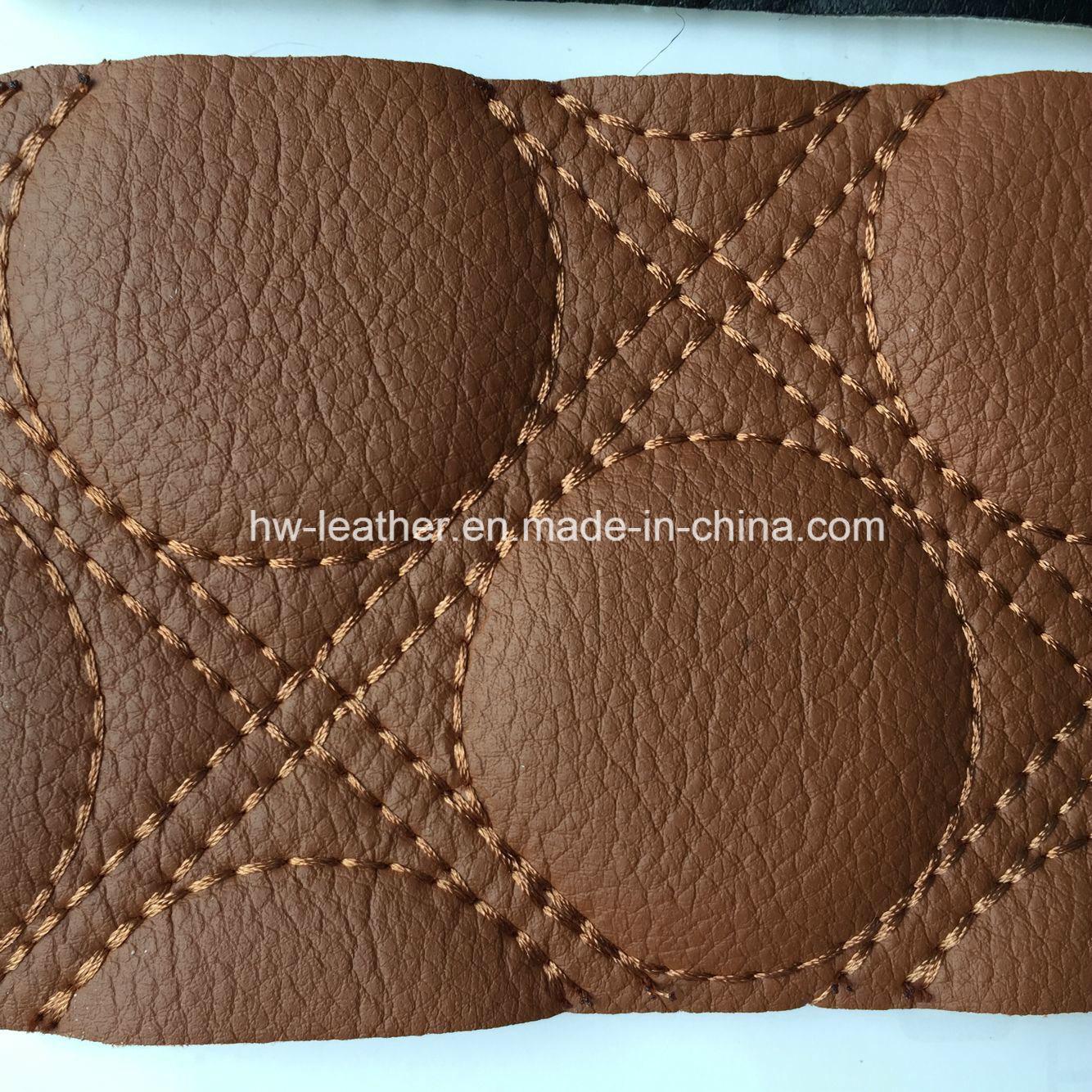 Sponge Back Microfiber Leather for Car Seat Hw-C1701