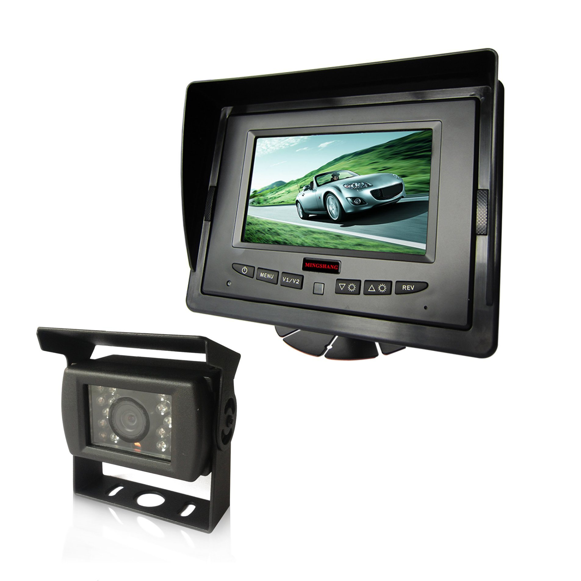 5 Inch Digital LCD Car Rear View Backup Monitor for Bus, Trucks
