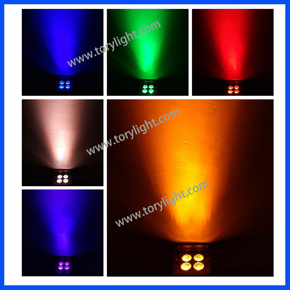 LED Slim PAR Battery 4PCS*18W Wireless Disco Light