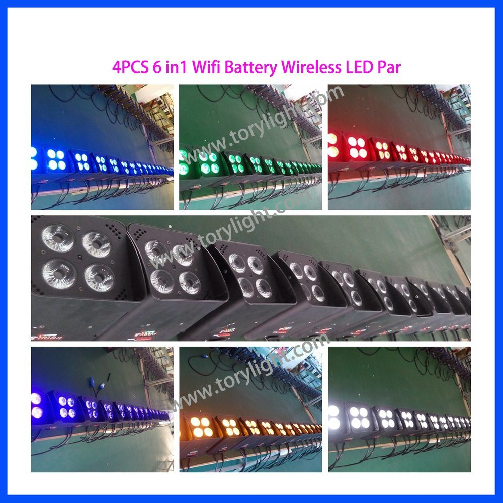 LED Slim PAR Battery 4PCS*18W Wireless Disco Light