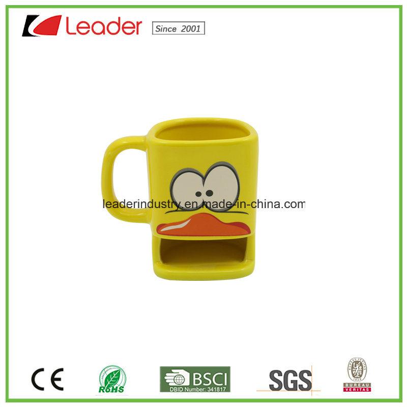 High Quality Ceramic Coffee Mug Mug with Fox Design Porcelain Mug for Promotion Gift