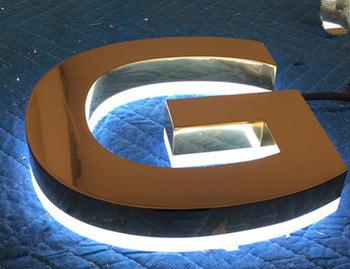 2017 Popular LED Backlit Channel Letter Signs, Decorative Metal LED Alphabet Letters with Waterproof LED Strip