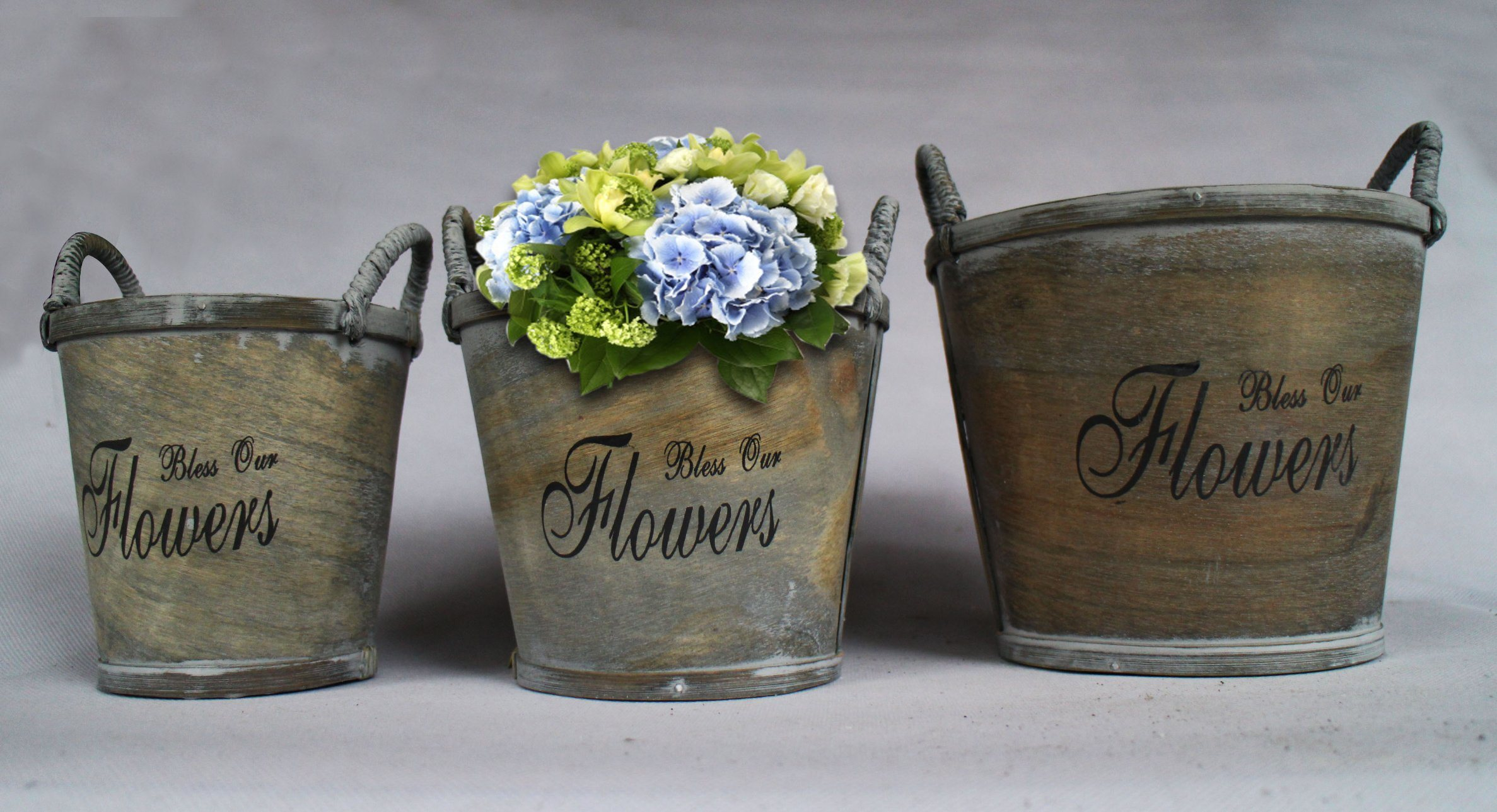 Manufacturers Selling Metal Ribbon Hand Word High-Quality Practical Flowerpot