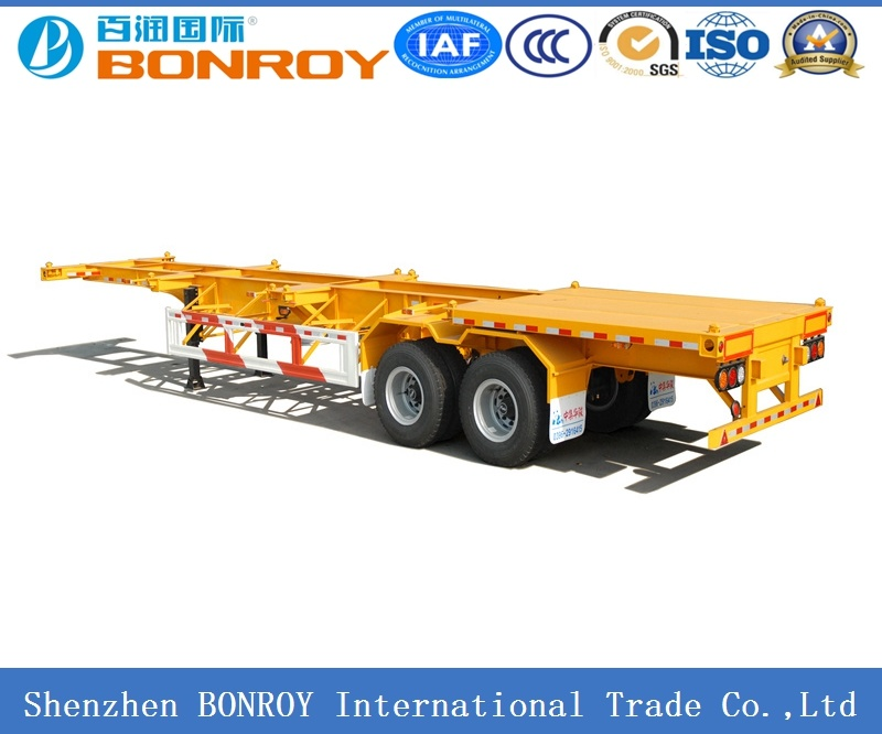 20FT 2 Axle Skeletal Container Semi Trailer