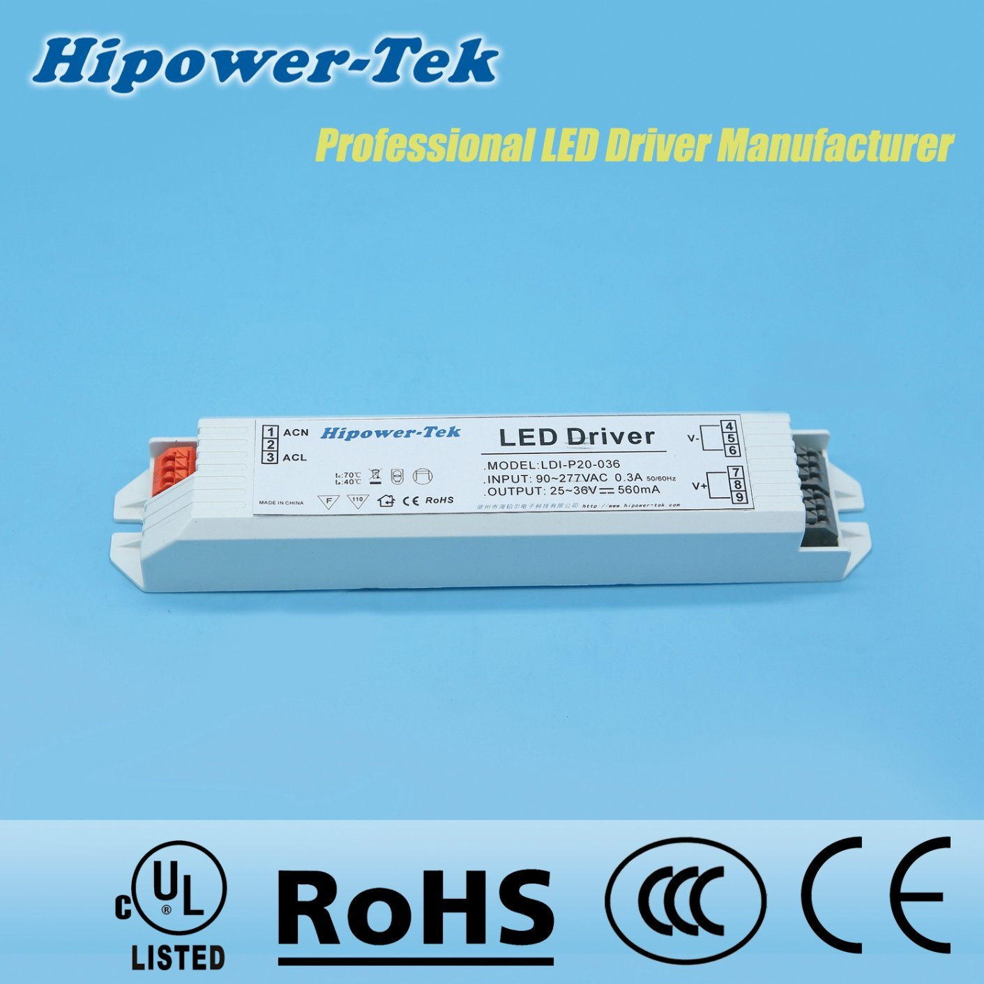 20W Constant Current Plastic Case LED Power Supply Driver