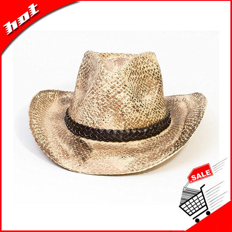 Cowboy Hat Raffia Straw Hat Fashion Hat