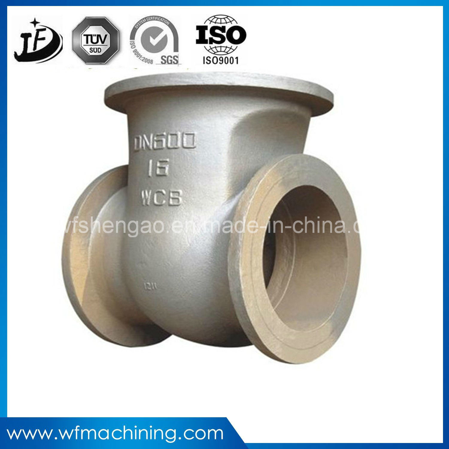 OEM Precision Casting Foundry Iron/Steel Valve Part for Agricultural Machinery