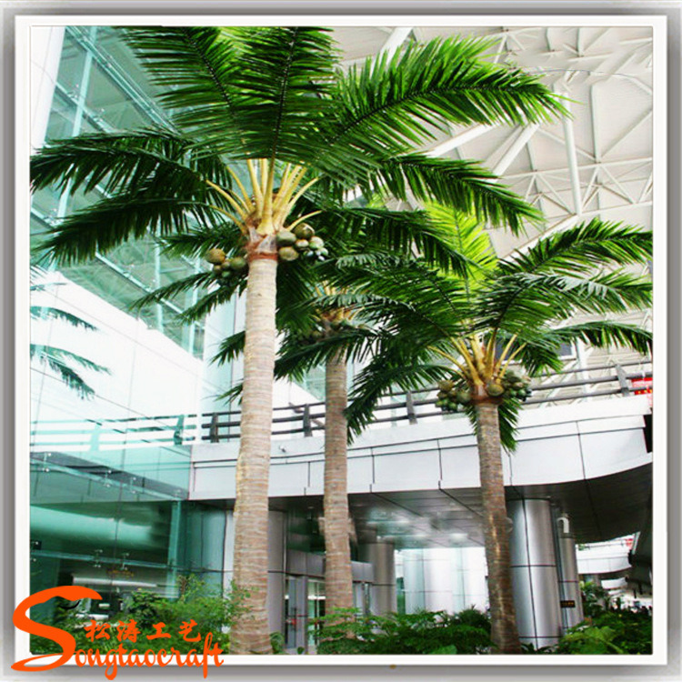 Outdoor Decoration Plastic Trees Artificial Coconut Palm Tree