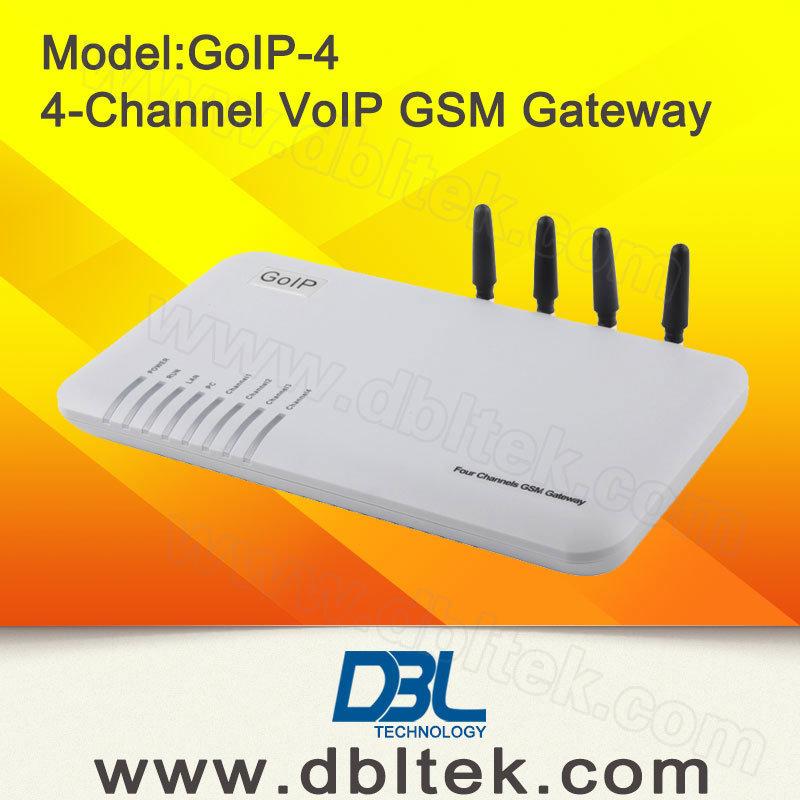 4 Channels GSM Gateway with 4 SIM Card
