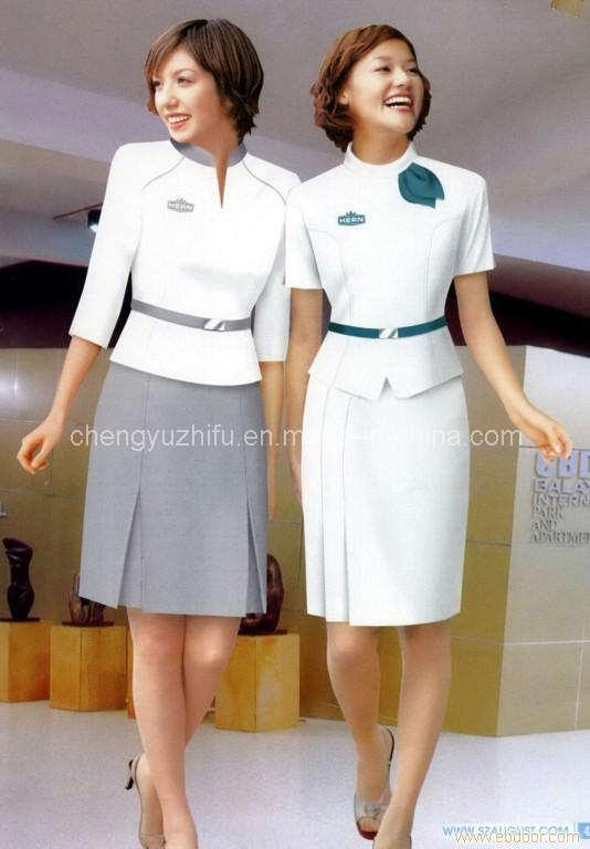 China White Newly Hotel Uniforms - China Hotel Uniforms, Uniforms for