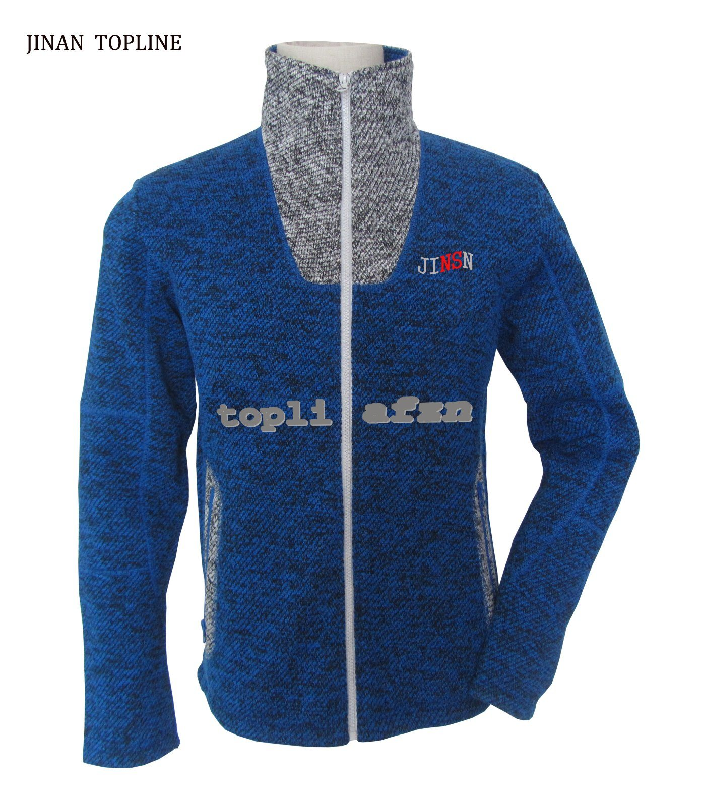 Men Knitted Polar Fleece Casual Jacket for Sports Wear
