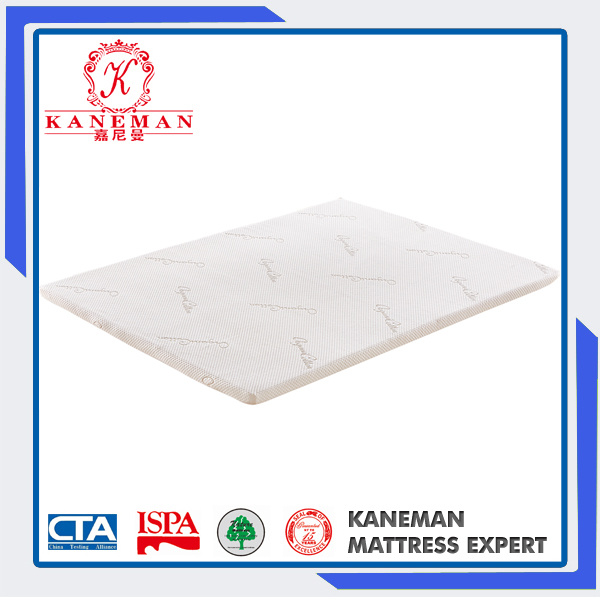 3 Inch Rolled Packing Single Thin Memory Foam Mattress Topper