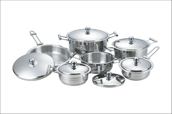 High Quality 12PCS Stainless Steel Cookware Set (CS112004)