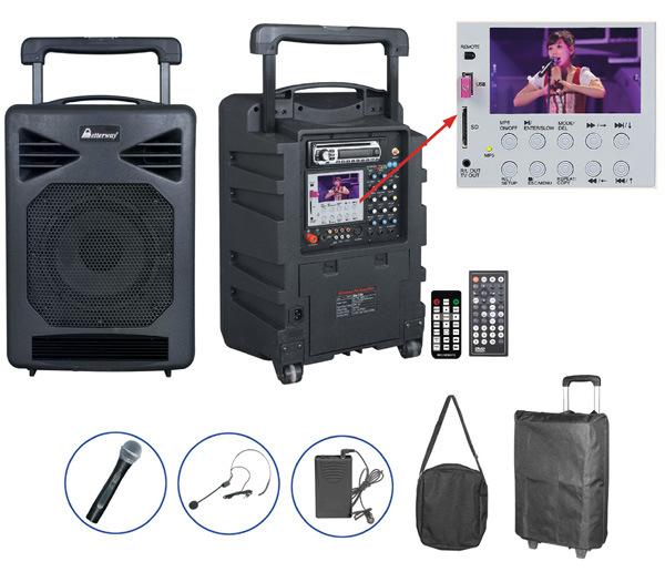 Multipurpose Wireless Movable PA Amplifier Speaker System