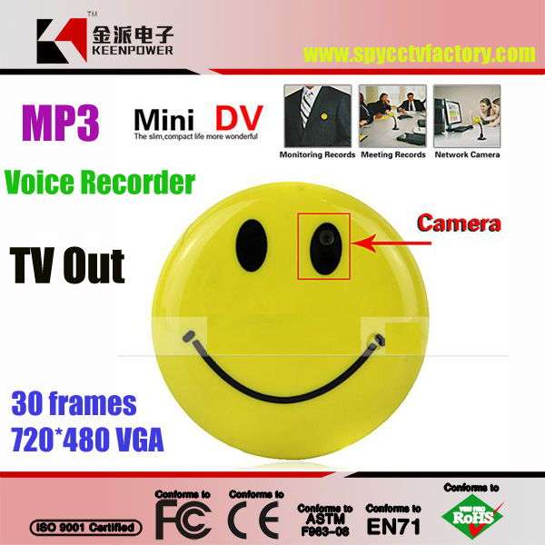 Smile Face Camera Mini Voice Recorder with MP3 & TV out
