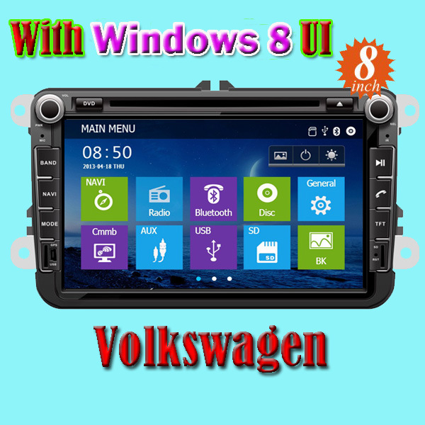 Car DVD with GPS Navigator Car Audio/Car Monitor for Volkswagen Vw Touran Polo Golf 5 Glof 6 Baro Passat B6 Tiguan (IY8095)