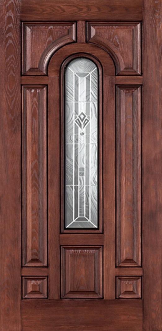 Oak Fiberglass Door