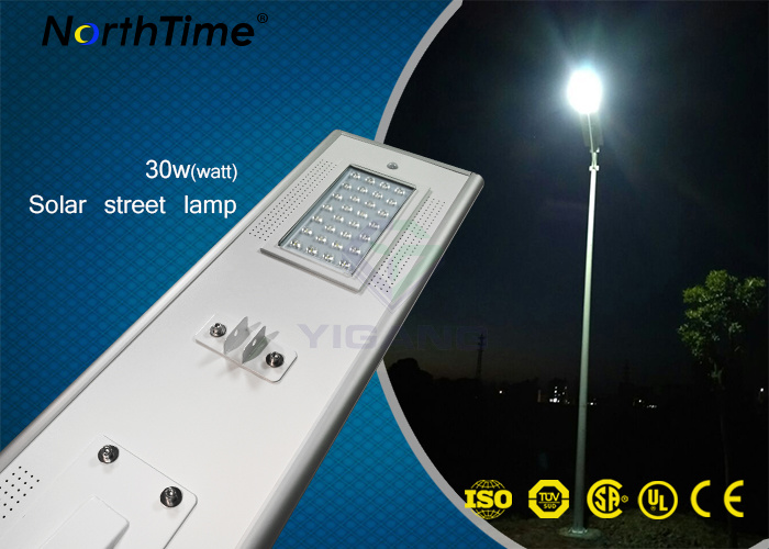 30 W Solar Powered Street Light All in One LED Oudoor Lighting Fixture
