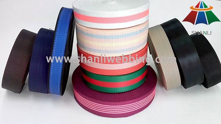 Eco-Friendly Jacquard Woven Nylon Cotton PP/Polypropylene Polyester Webbing