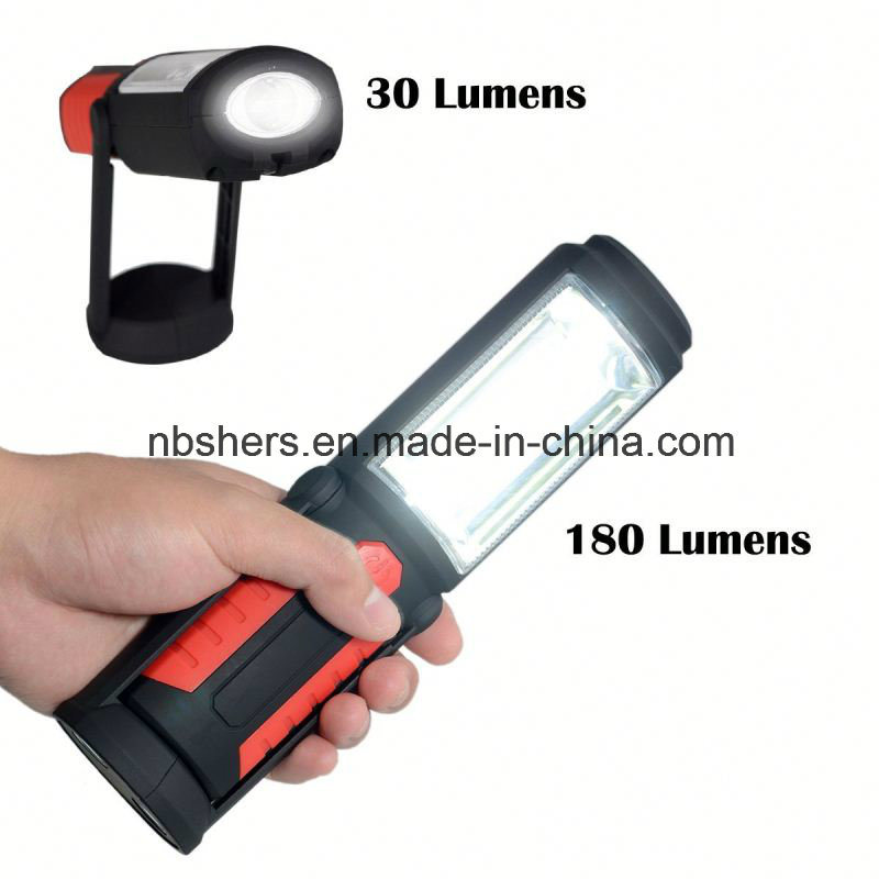 Rechargeable 3W COB LED Working Light Magnetic Base, Backside