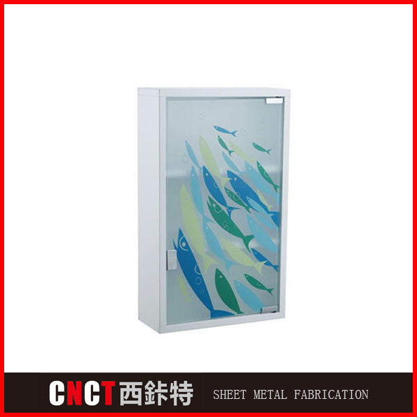 Stainless Steel Modern Wall Mounted Bathroom Mirror Medicine Cabinet