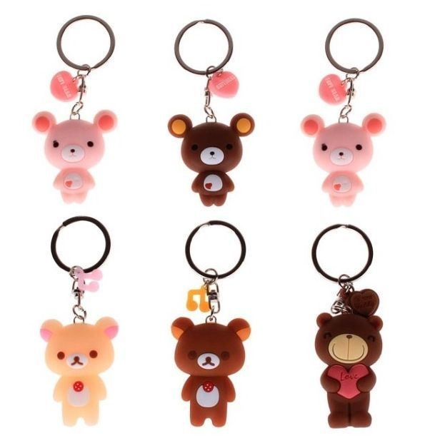 New Symbol Silicone Rubber Keyring Keychain