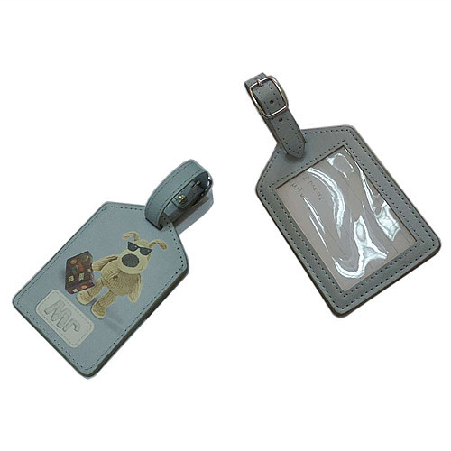 Excellent PU Genuine Leather Luggage Tag with Print Logo (B1001)