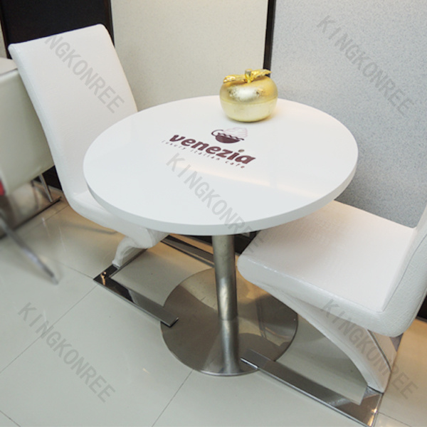 Custom Size Artificial Stone Solid Surface Restaurant Table (KKR-TB012)