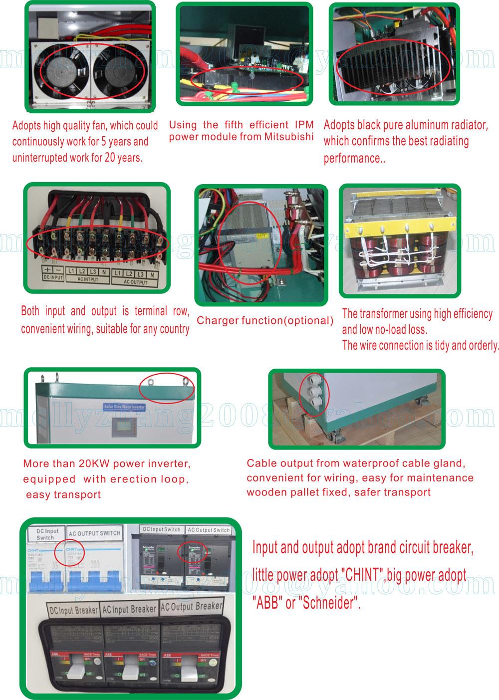 120/240V Dual Output 10kw off Grid Standalone Inverter