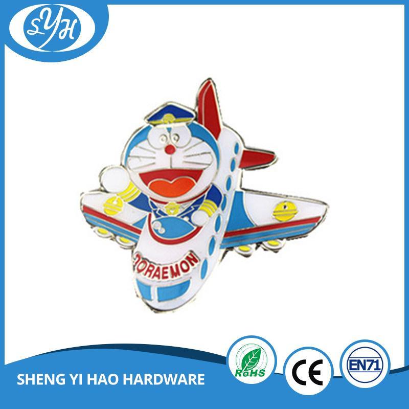 Custom Hard Enamel Metal Doraemon Pin Badge