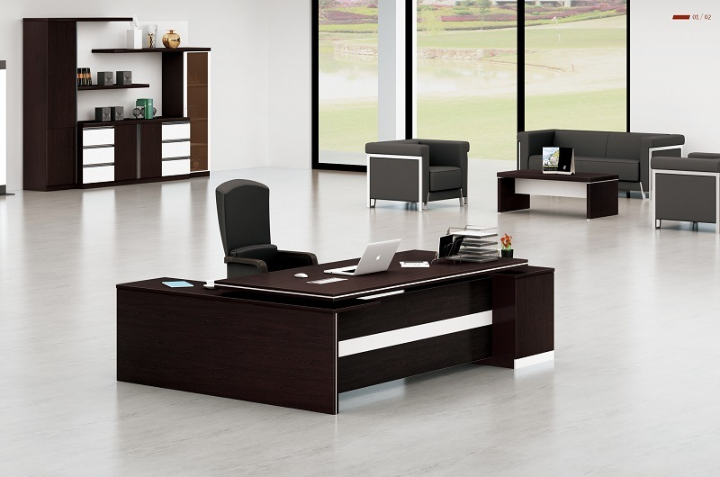 China black l shape office desk modern office executive for Incredible modern office table product catalog china