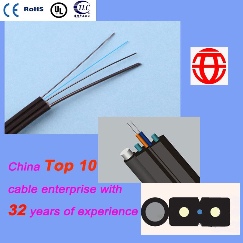 2 Core FTTH Self-Supporting Bow-Type Drop Cable Optical Fiber