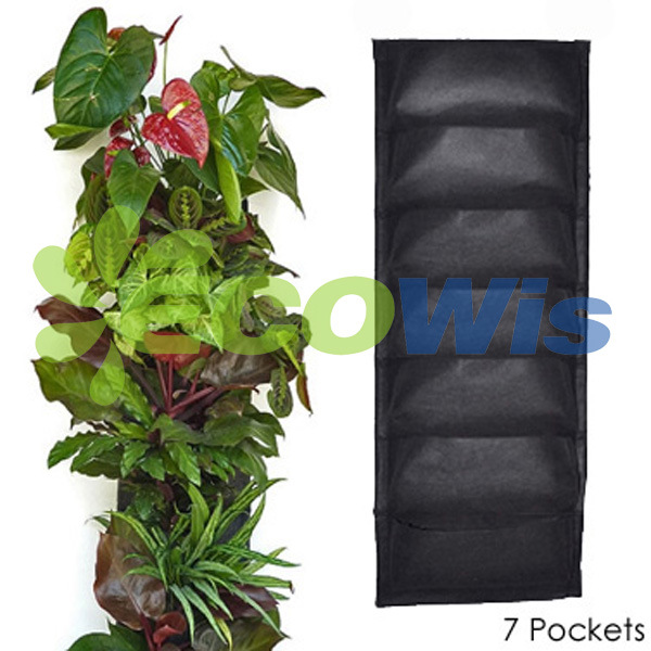 7 Pocket Hanging Vertical Garden Wall Planter (HT5093A)