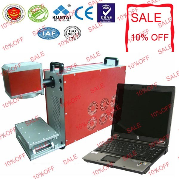 2 Years Warranty Portable Fiber Laser Marking Machine in Stock