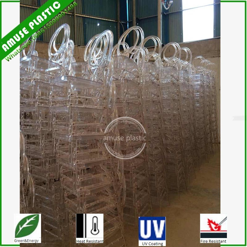 Plastic Resin Clear White Wedding Party Children Chiavary Chairs
