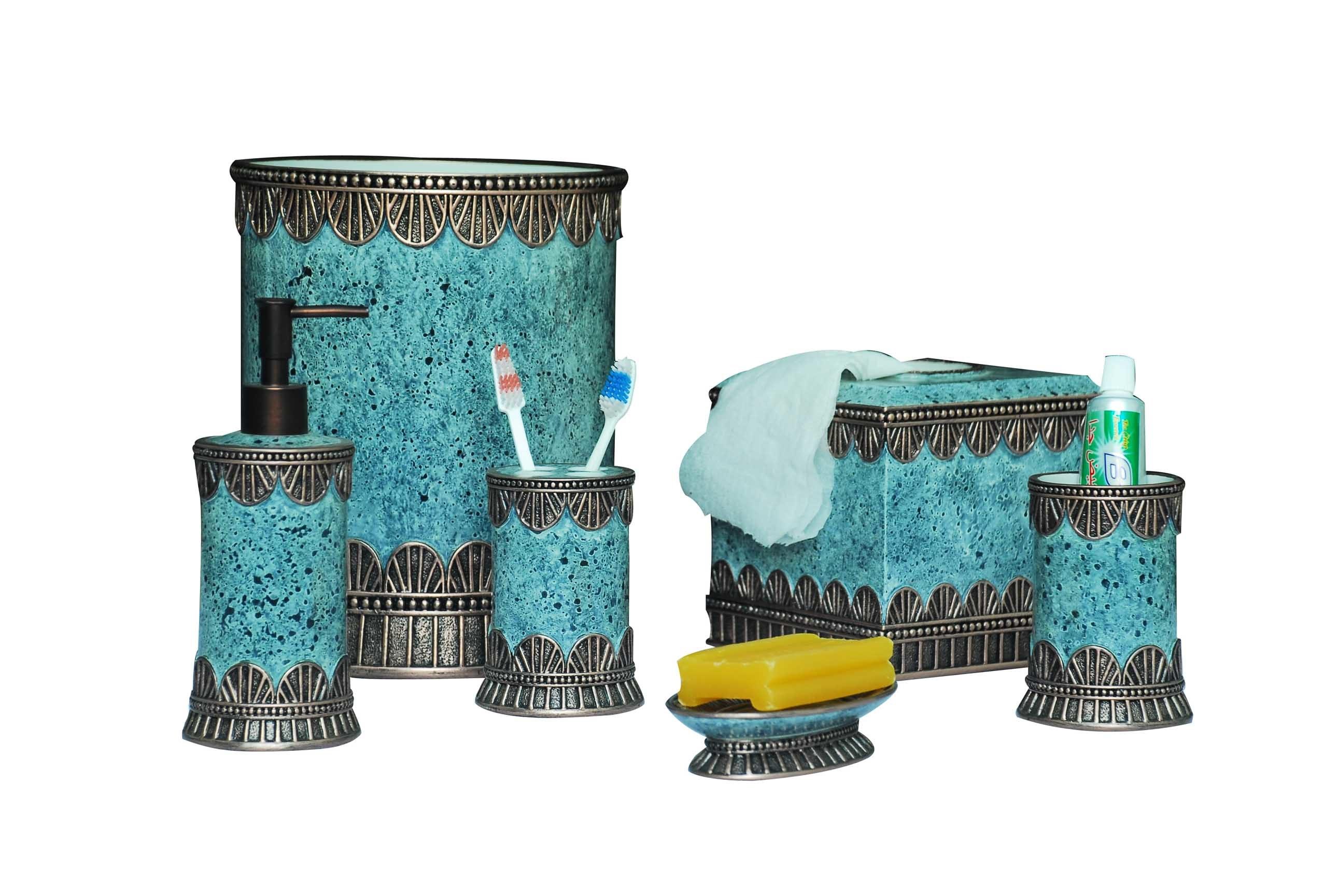 Teal Bathroom Accessories Debenhamscom Turquoise And