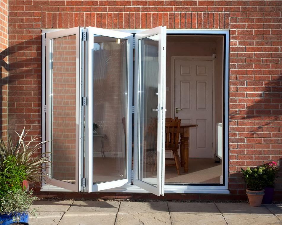 China wanjia pvc double glazing bi fold doors d 231 for Pvc double glazing