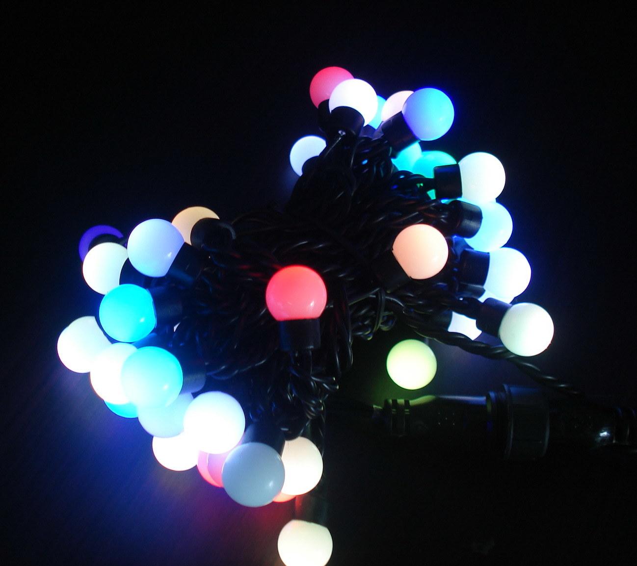 String Lights With Round Bulbs : China RGB LED String Light with Round Bulb, IP65 - China Light String, String Light