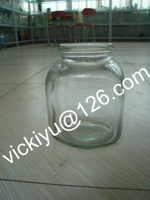 Big Food Glass Storage Jars 1L~12L, Large Square Glass Bottles