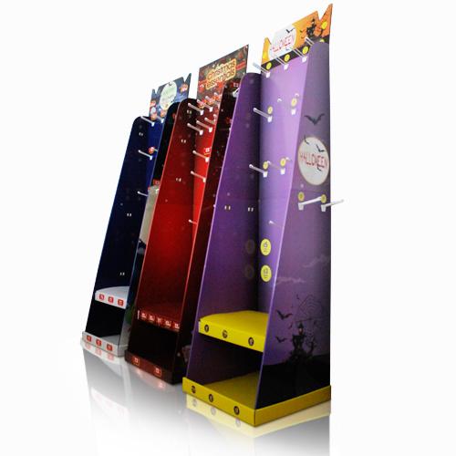 Pop Cardboard Standing Floor Display Units, POS Corrugated Store Rack