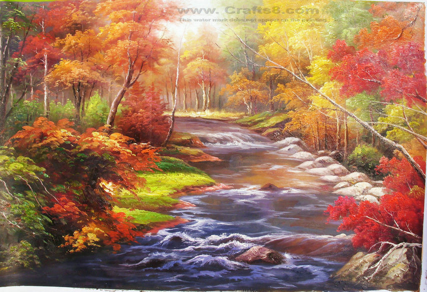 China landscape oil paintings 018 china landscape oil for Oil painting scenery