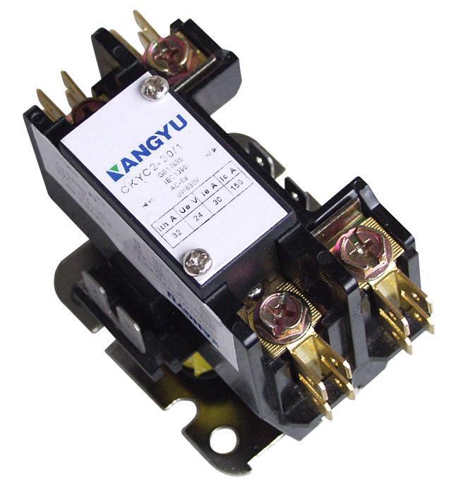 china ul csa definite purpose magnetic contactor ckyc2 1 2pole 20 40amp china definite