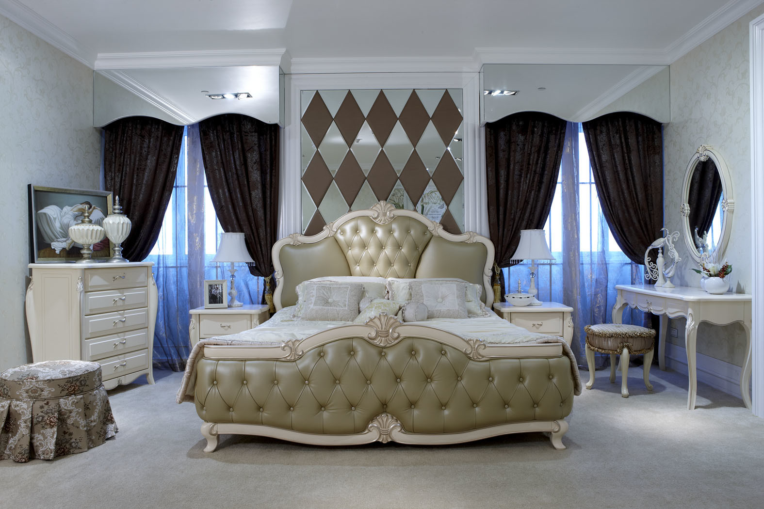 China Luxury Bedroom Furniture For Villa And Suite China