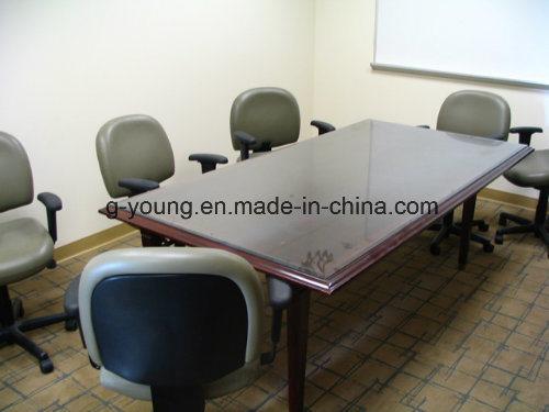 Modern Metal Frame Wood Table Meeting Desk