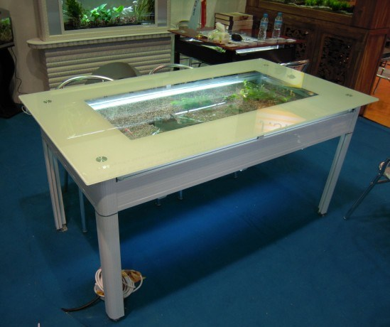 Dining table fish dining table - Fish tank dining room table ...